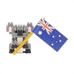 Nanoblock - Small Koala with Flag-construction-models-craft-The Games Shop