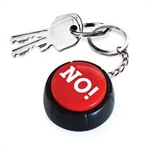 The No Button - Keyring-quirky-The Games Shop