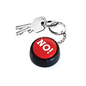 The No Button - Keyring