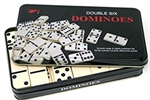 Dominoes - Double 6 in a tin-traditional-The Games Shop