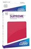 Ultimate Guard Sleeves Japanese Size - Matte Red-trading card games-The Games Shop