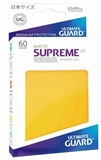 Ultimate Guard Sleeves Japanese Size - Matte Yellow-trading card games-The Games Shop