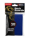 Standard Card Sleeves - BCW - 50 Matte Blue-trading card games-The Games Shop