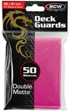 Standard Card Sleeves - BCW - 50 Matte Pink-trading card games-The Games Shop