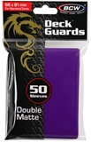 Standard Card Sleeves - BCW - 50 Matte Purple-trading card games-The Games Shop