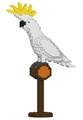 Jekca Sculpture - Sulphur Crested Cockatoo-construction-models-craft-The Games Shop