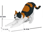 Jekca Sculpture - Calico Cat Stretching-construction-models-craft-The Games Shop