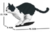 Jekca Sculpture - Black & White Cat Pouncing-construction-models-craft-The Games Shop