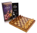 Chess Set - Folding Wooden 30cm-chess-The Games Shop