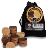 Draughts Men - Wooden in a bag-board games-The Games Shop