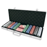 Poker Chip Set - 500 11.g Chips with Values-card & dice games-The Games Shop