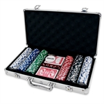 Poker Chip Set - 300 11.5g Chips with Values-card & dice games-The Games Shop
