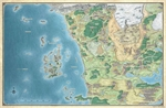 Dungeons and Dragons - Sword Coast Adventures Guide Faerun Map-gaming-The Games Shop