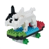 Nanoblock - Medium Skateboarding Dog-construction-models-craft-The Games Shop