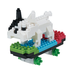 Nanoblock - Medium Skateboarding Dog