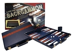 "Backgammon - 15"" Vinyl - Blue-traditional-The Games Shop"