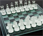 Chess Set - Glass-chess-The Games Shop