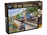 Holdson - 500 XL piece At the Station - Horsted Keynes on the Bluebell Railway-jigsaws-The Games Shop