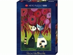 Heye - 1000 piece Wachtmeister - Poppy Canopy (with gold foil)-jigsaws-The Games Shop