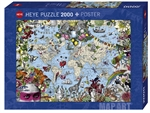 Heye - 2000 piece Map Art - Quirky World-jigsaws-The Games Shop