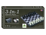 "3 in 1 Magnetic Chess Checker Backgammon - 12""-travel games-The Games Shop"