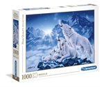 Clementoni - 1000 piece - Family of Wolves-jigsaws-The Games Shop