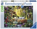 Ravensburger - 1500 piece - Tranquil Tigers-jigsaws-The Games Shop