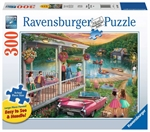 Ravensburger - 300 piece Large Format -  Summer at the Lake-jigsaws-The Games Shop