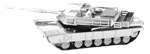 Metal Earth - M1 Abrams tank-construction-models-craft-The Games Shop