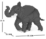 Jekca Sculpture - Elephant Walking-construction-models-craft-The Games Shop