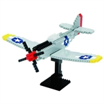 Nanoblock - Deluxe P-51 Mustang-construction-models-craft-The Games Shop
