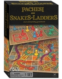 2 in 1 Pachesi (Ludo) and Snakes and Ladders - wooden boards-board games-The Games Shop