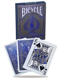 Bicycle - Metalluxe Foil Back Cobalt-card & dice games-The Games Shop