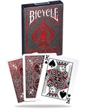 Bicycle - Metalluxe Foil Back Crimson-card & dice games-The Games Shop