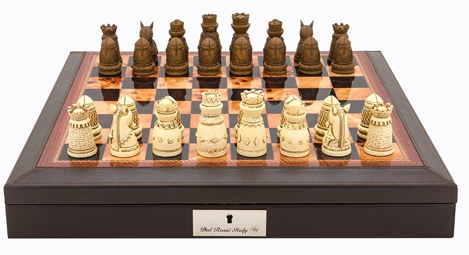 Chess Set Medieval Resin On Pu Leather Edge Board Chess Chess Sets The Games Shop Board Games Card Games Jigsaws Puzzles Collectables Australia