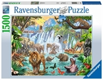 Ravensburger - 1500 Piece - Waterfall Safari-jigsaws-The Games Shop