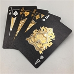 Playing Cards - Black with Silver & Gold-card & dice games-The Games Shop