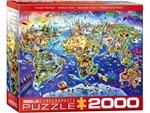Eurographics - 2000 Piece - Crazy World-jigsaws-The Games Shop