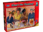 Holson - 1000 Piece What's She Thinking - Blue Ribbon-jigsaws-The Games Shop