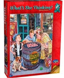 Holson - 1000 Piece What's She Thinking - Checkers-jigsaws-The Games Shop