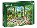 Falcon - 1000 Piece - Butterfly Conservatory (made by Jumbo)-jigsaws-The Games Shop