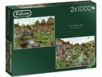 Falcon - 2 x 1000 Piece - Village Life (made by Jumbo)-jigsaws-The Games Shop