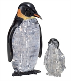 3D Crystal Puzzle - Penguins-jigsaws-The Games Shop