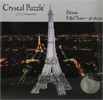 3D Crystal Puzzle - Black Eiffel Tower-mindteasers-The Games Shop