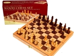 "Chess Set - folding wooden 10.5"" -chess-The Games Shop"