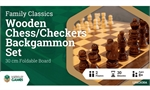 3 in 1 - Chess Checkers Backgammon - 30cm-chess-The Games Shop