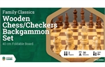 3 in 1 - Chess Checkers Backgammon - 40cm-chess-The Games Shop