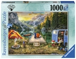 Ravensburger - 1000 Piece Wanderlust - Calm Campsite-jigsaws-The Games Shop