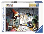 Ravensburger - 1000 Piece Disney Pixar - The Artist's Desk-jigsaws-The Games Shop