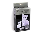 3D Crystal Puzzle - Cat & Kitten-jigsaws-The Games Shop